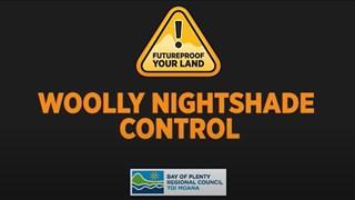 Woolly nightshade control